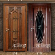 Входные двери Эталон Бизнес-класс со стеклопакетом